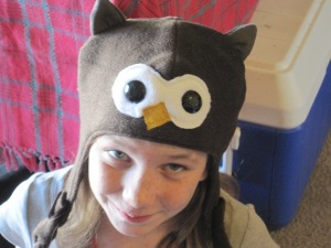 Adorable Niece in Owl Hat
